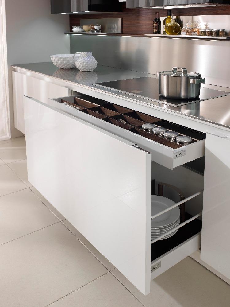 Barato del gabinete de cocina puerta laca y melamina for Precio cocina nueva