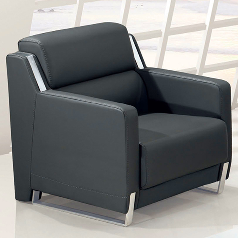 Modern Stylish Leather Sofa Minimalist Reception Parlor