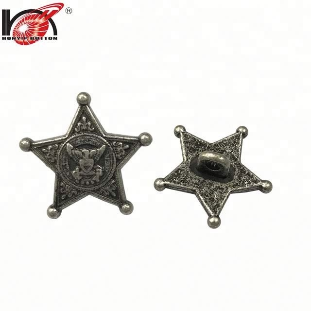 01bc307f2ff High Grade Epoxy Metal Crown Sewing Military Coat Buttons For Suit ...