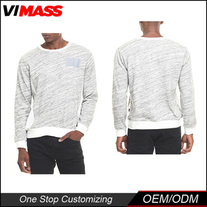 Fashion White men's Sweatshirts Crewneck men's Long Sleeve Sweatshirts