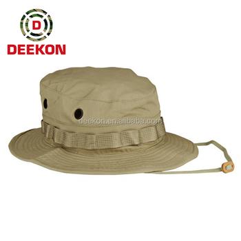27c459e5 Custom Military Khaki Camo Boonie Hat