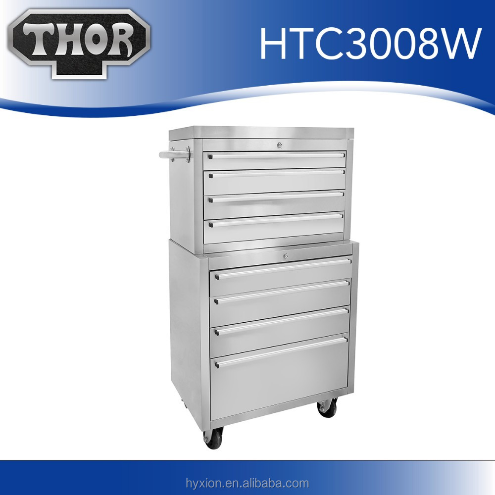 Hyxion luxury tool cabinet 304 stainless steel hand tool set with metal boxes