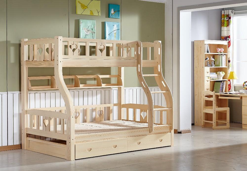 Etagenbett Mit Schubladen Treppe : Kids massivholz etagenbett mit schublade treppen schlafzimmer möbel