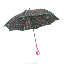 Japanese style auto long umbrella with special handle