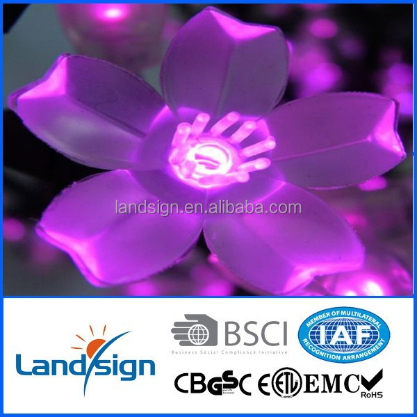 indoor outdoor decorative solar flower string light for Christmas Party Home