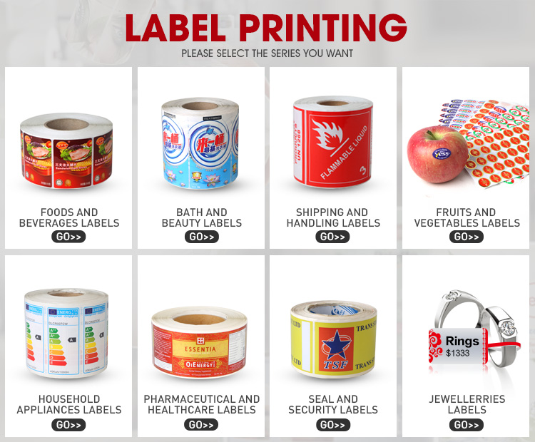 Custom Glossy Waterproof Self Adhesive Label Canned/Food/Beer/Fruit Jam Packing Label Stickers