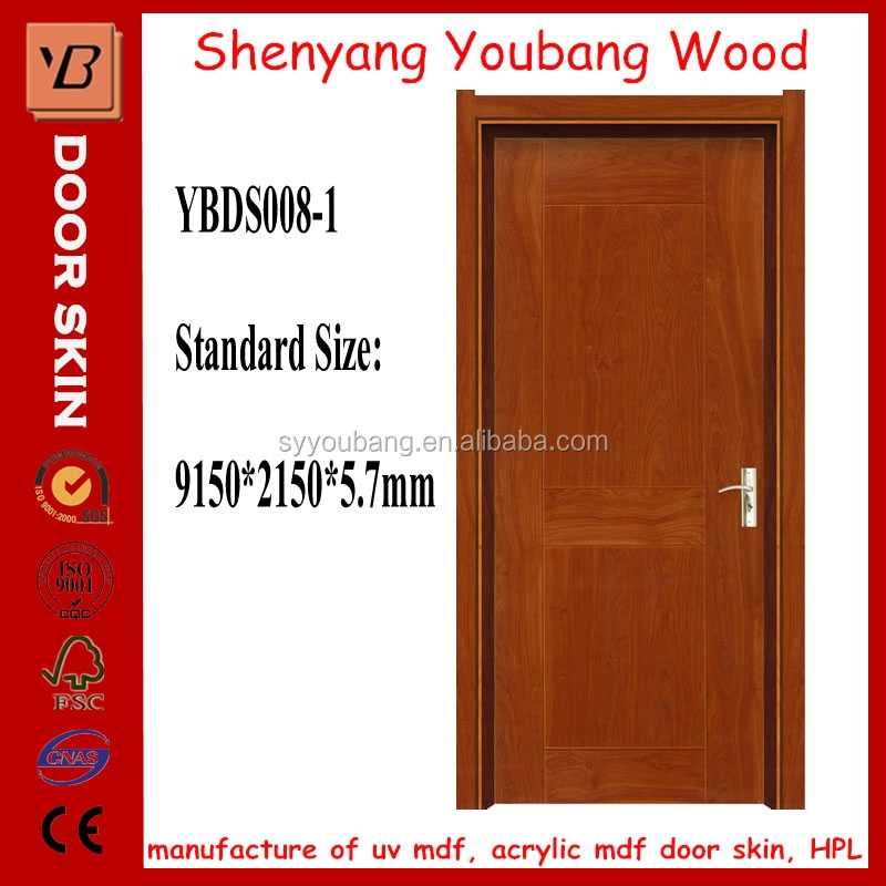 Best Price building material solid wood Indoor door skin