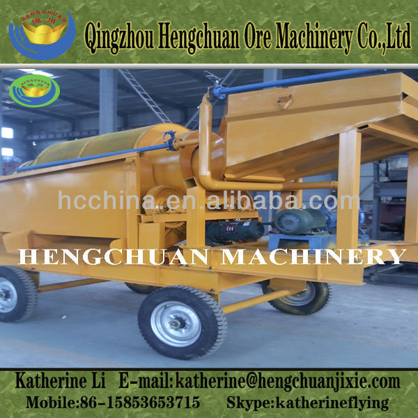 Small Scale Diesel Engine Mini Gold Mining Trommel for Sale