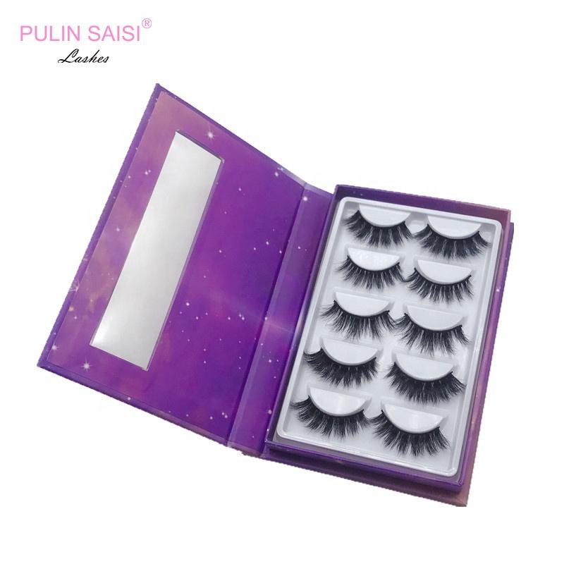 100% real 3d mink lashes, eyelash boxes custom eyelashes packaging box and private label eyelashes, Natural black 3d mink lashes
