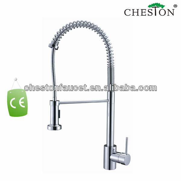 Bathroom vessel sink pull out faucet tapware
