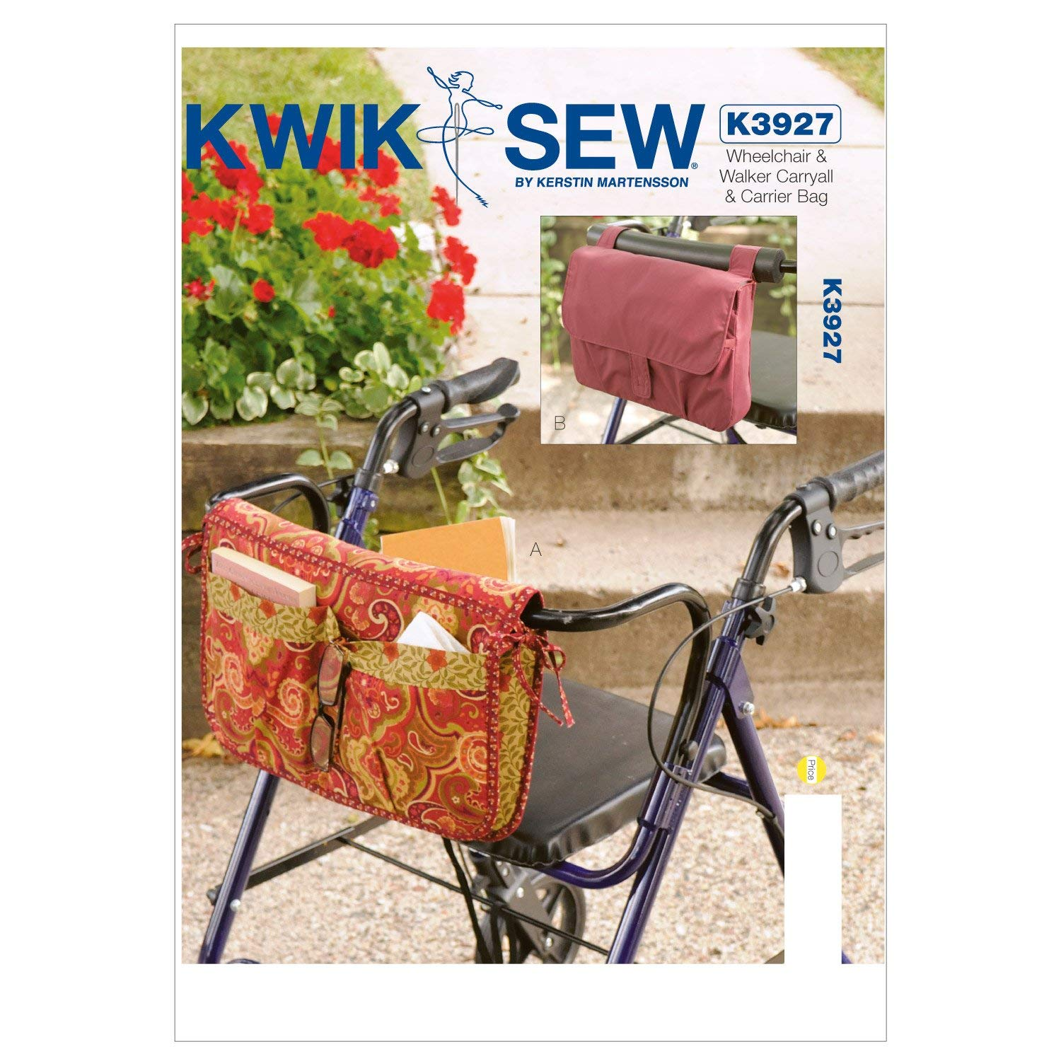 Get Quotations Kwik Sew K3927 Wheelchair And Walker Carryall Carrier Bag Sewing Pattern No Size