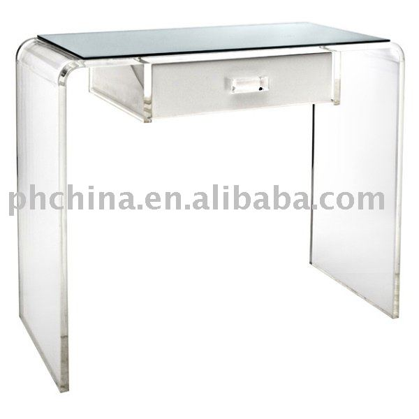 Clear Acrylic Waterfall Vanity Table Office Desk And Computer Product On Alibaba