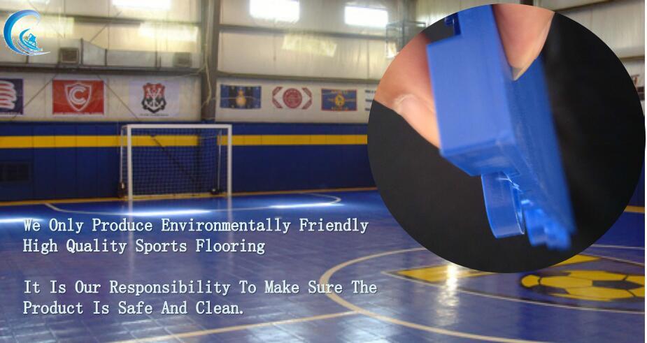 Pp Interlock Sports Field Turf Futsal Floor Football