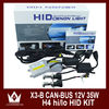 Car HID Xenon Kit h4 high low H4-3 Hi/Lo car Bi xenon hid kits 35w Hi Lo Beam Lamp 3000k 6000k 8000k 4300k 12000k