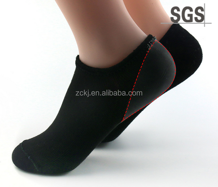 No Show Gel Lined With Heel and Forefoot Socks Moisturizing Gel Spa Socks For Dry Cracked Feet For Size 4 -7.5