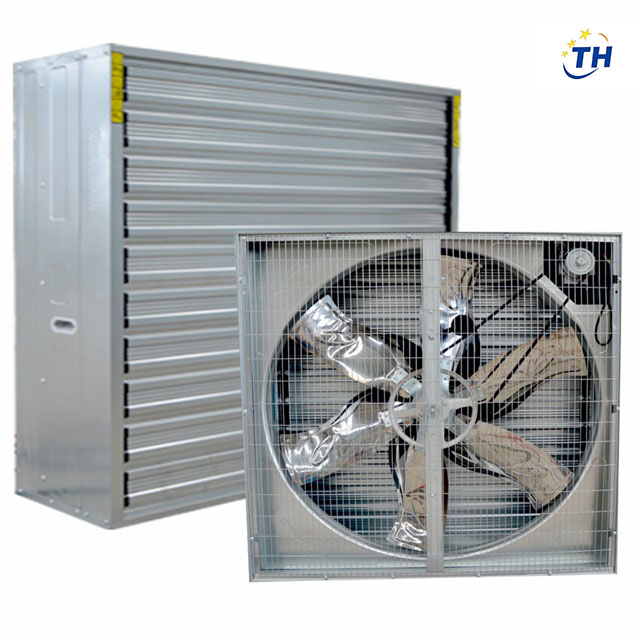 Automatic shutter wall mounted industrial electric exhaust fan for poultry  farm