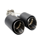 Carbon [ Exhaust ] Exhaust Exhaust Original Style 304 Stainless Steel 63mm Dual Carbon Fiber Exhaust