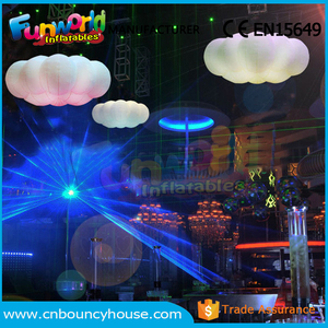 Advertising Inflatable sky cloud balloon with LED light for decroration