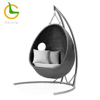 Hot Selling KD Design Metal Stand Helicopter Canopy Outdoor Swingasan Chair LG50-9587