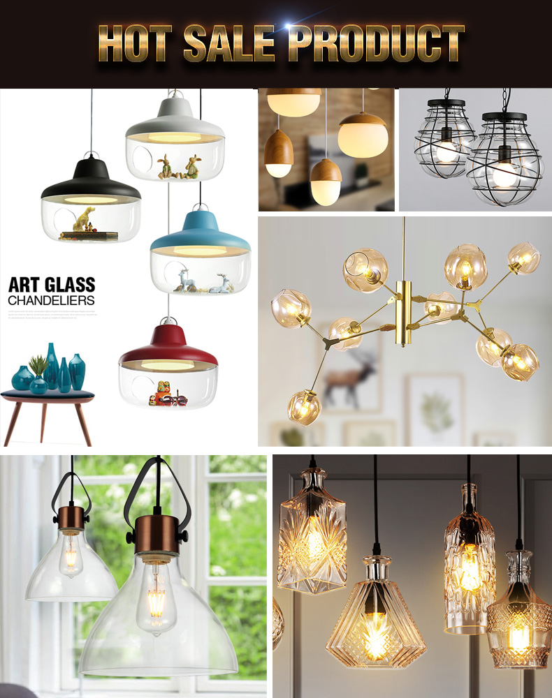 Bar ceiling Painting scrub bulb shaped glass lamp rustic wrought iron chandelier pendant lights chandelier for coffee house