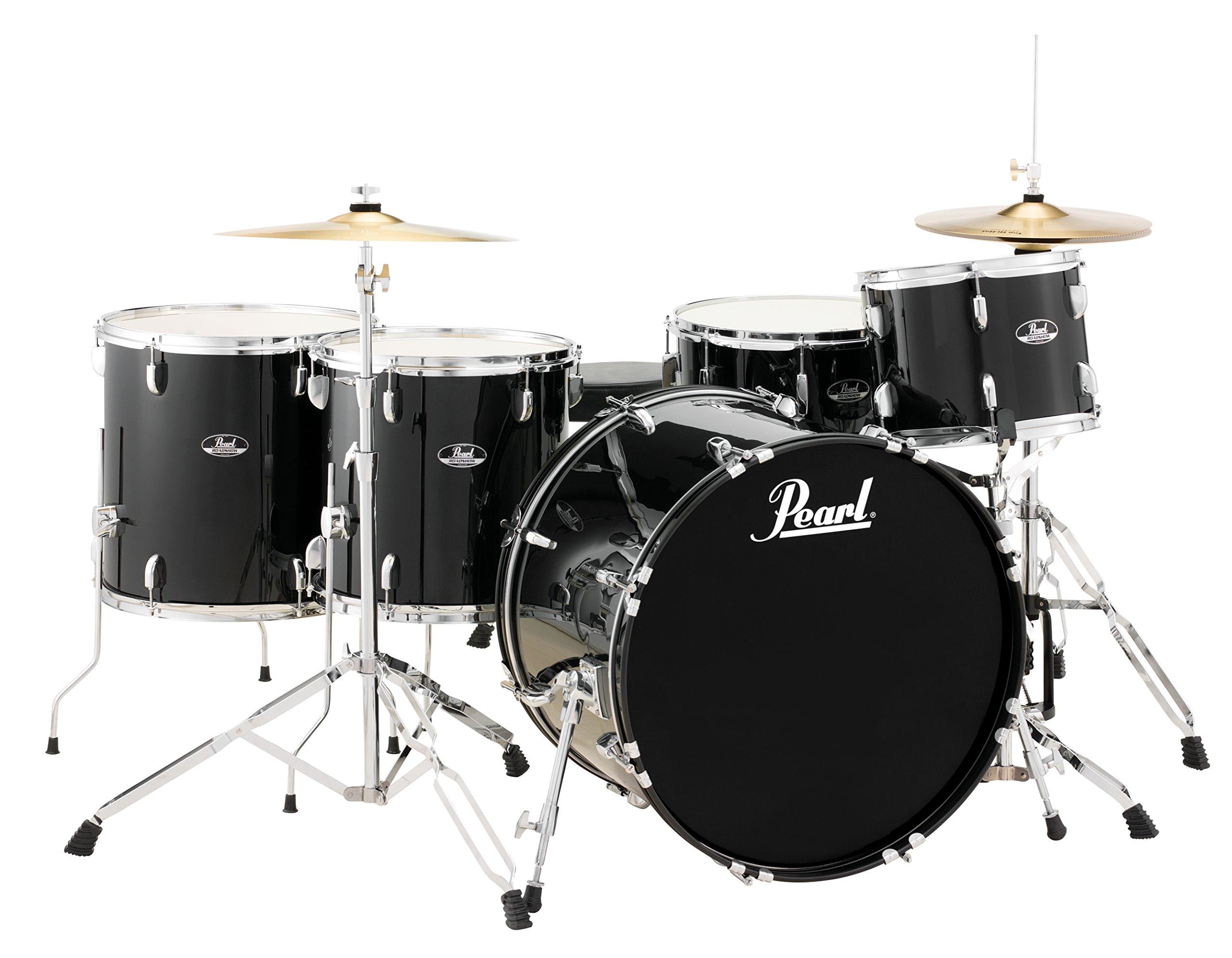 Pearl Roadshow RS525WFC/C31 5-Piece Drum Set, Jet Black