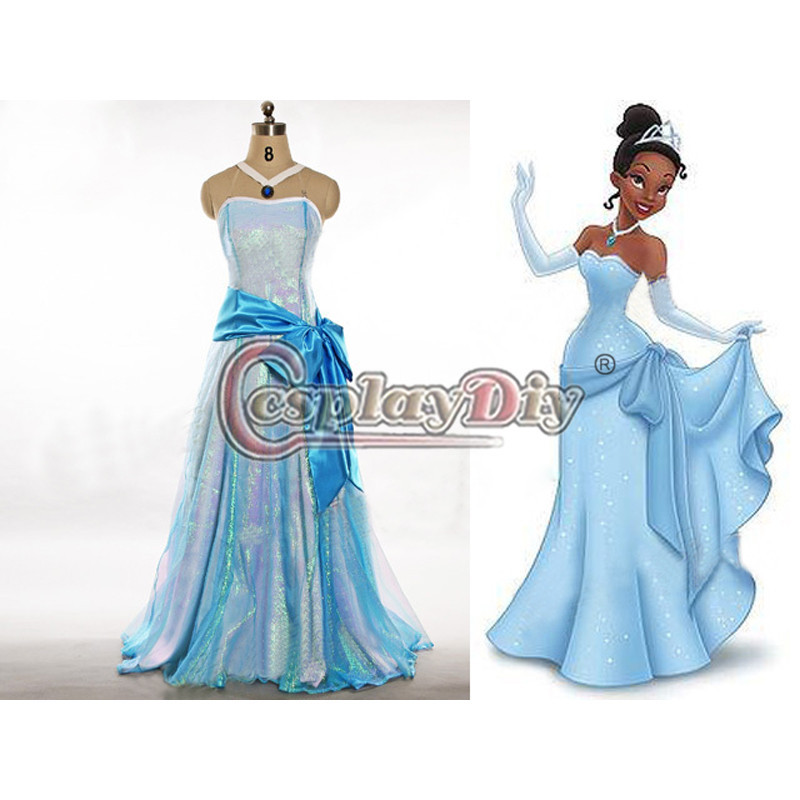 Cosplay Tiana Princess Fancy Dress Costume For Carnival Party Adult  sc 1 st  Lookup Before Buying & Tiana adult costume - Lookup BeforeBuying