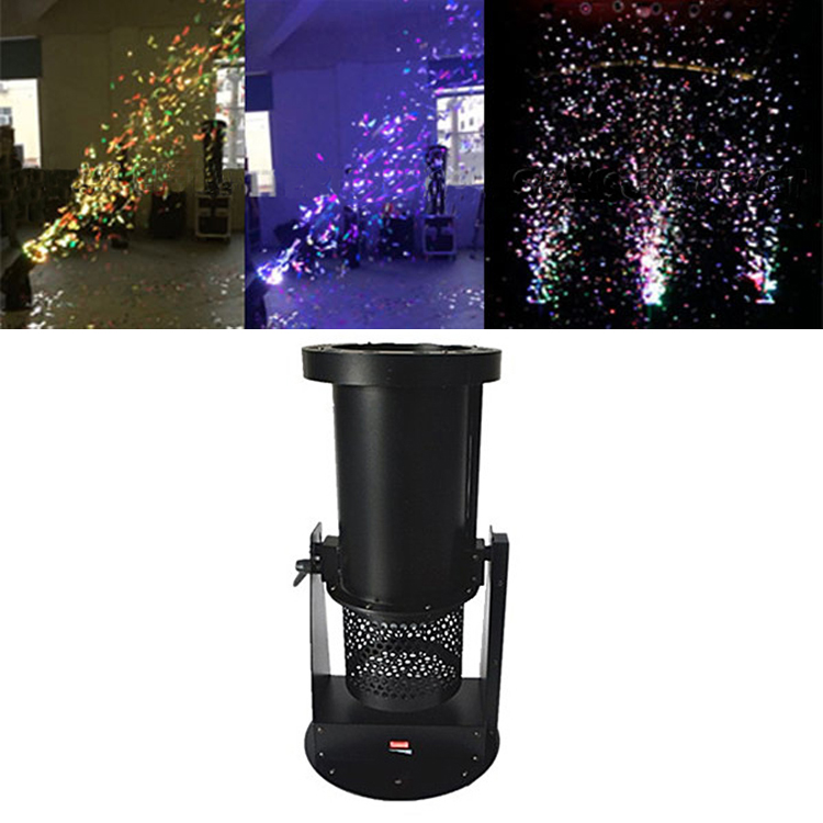 1500W DMX stage Equipment paper LED Confetti blower Machine