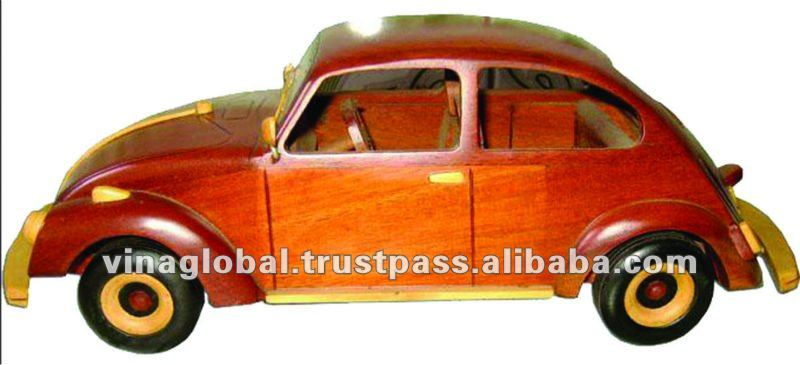Handmade Wooden Volkswagen Beetle Toy Car