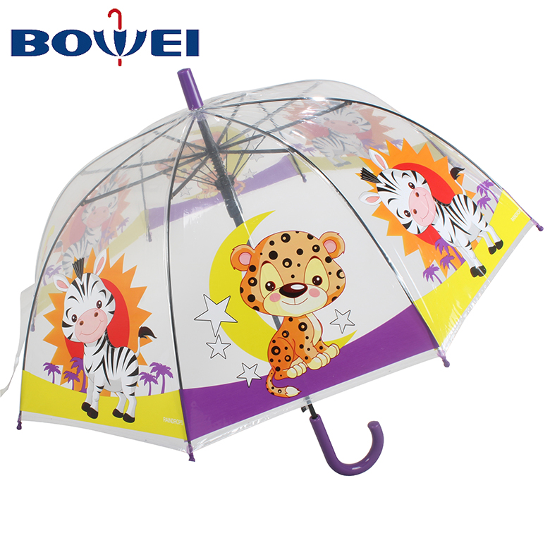 Wholesale promotional kids transparent child umbrella custom for rain