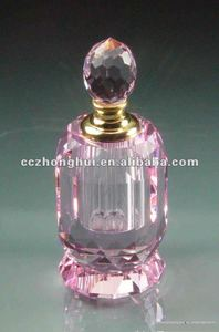 Exquisite Pink Crystal Perfume Bottle