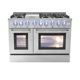 "Hight quality Double oven gas cooker 48"" 6 burner with infrared griddle"
