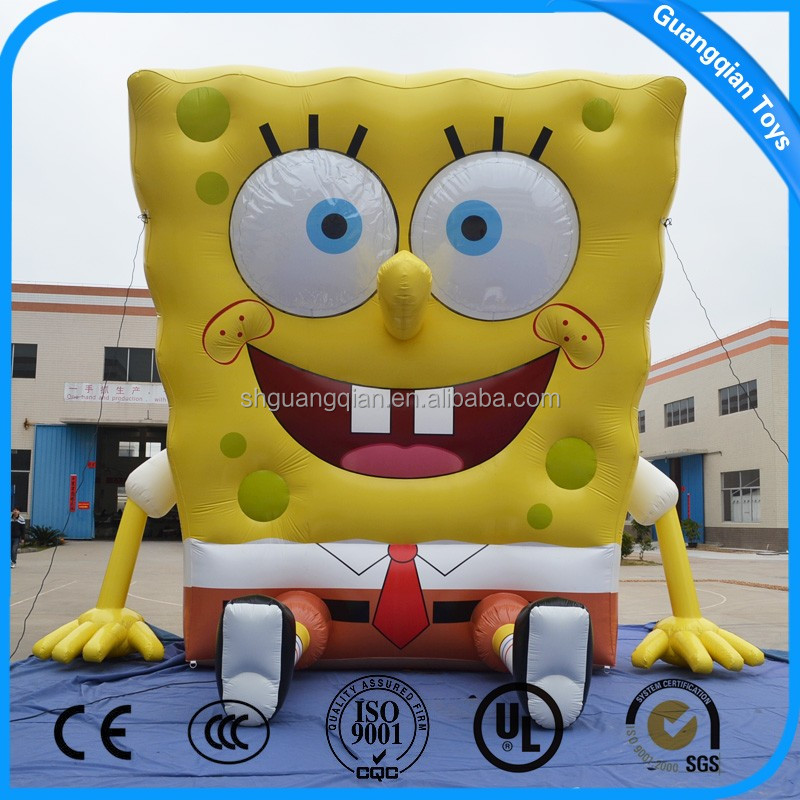 Guangqian Hot Selling Advertising Characters Inflatable Cartoon Model With PVC Material