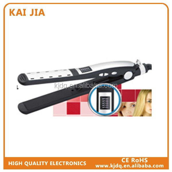 hair curling iron set Professional steam hair flat iron with temperature control