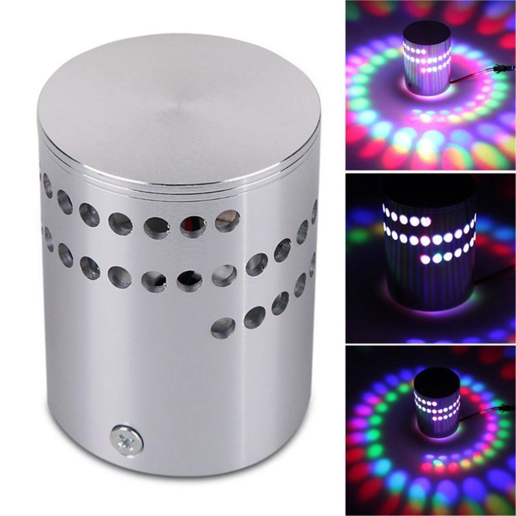 Rumas 2018 Colorful RGB Spiral Hole Wall Lamp Surface Install LED Light Luminaire Lighting