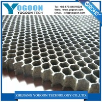 Construction convience and flatness shielded honeycomb air vent filters used in laser cutting machine panel