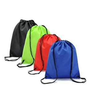 Waterproof Portable Sports Bag Thicken Drawstring Belt Riding Backpack Gym Drawstring Shoes Bag Clothes