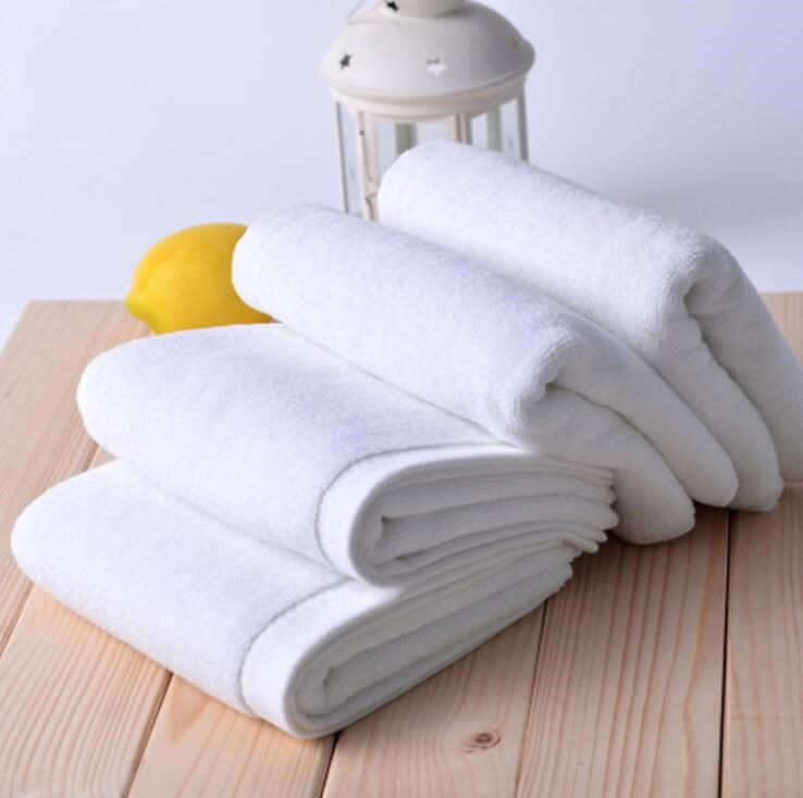 100% <strong>Cotton</strong> 32s/2 35*75cm 120g/pcs Used White Hotel Face Hand Towel