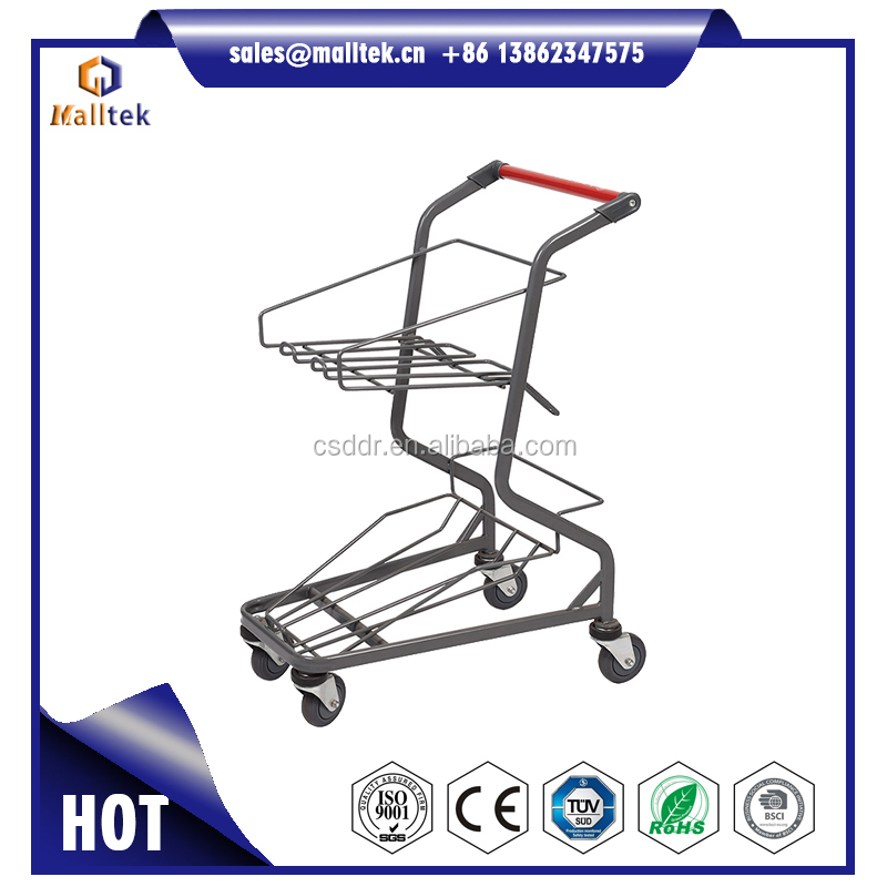 Thribble Layers 4 Wheels Supermarket Shopping Basket Trolley