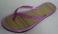 Simple Design Outdoor Straw Cool Flip Flops Shoes
