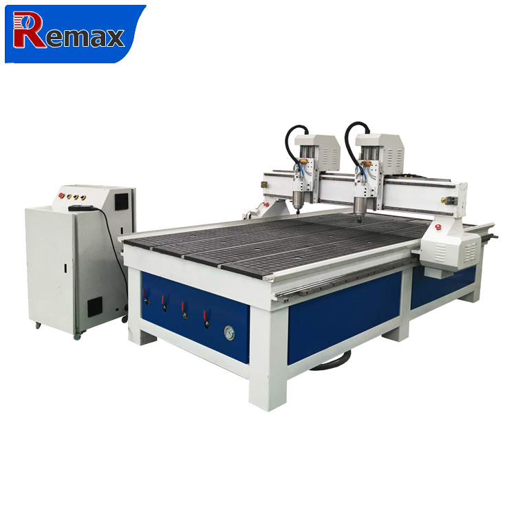 double spindle wood cnc router/2 heads wood carving cutting cnc router1325