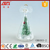 Lighted small glass angel figurine Xmas decoration with star
