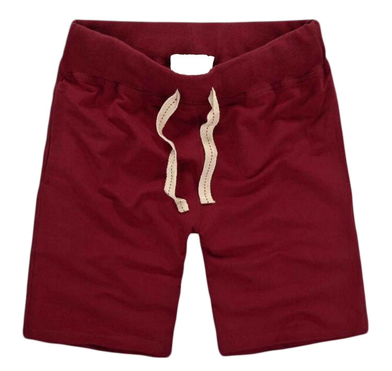 Wofupowga Mens Drawstring Cotton Swim Trunks Comfort Stretch Athletic Short Pants Shorts