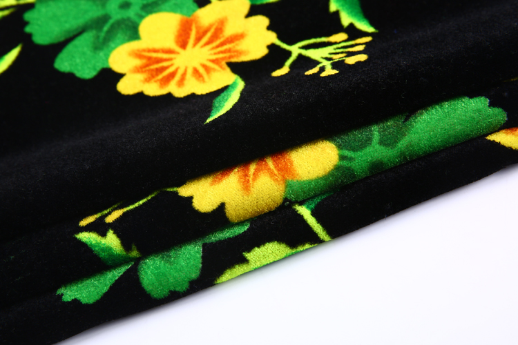 Floral pattern 100 percent poly woven printed velvet print fabric sofa floral for clothing