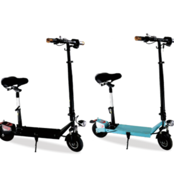 New 2 wheel electric mobility kick scooter with free folding handle double seat
