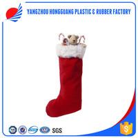 kids christmas decorations stuffed animal toys sock plush felt christmas stocking