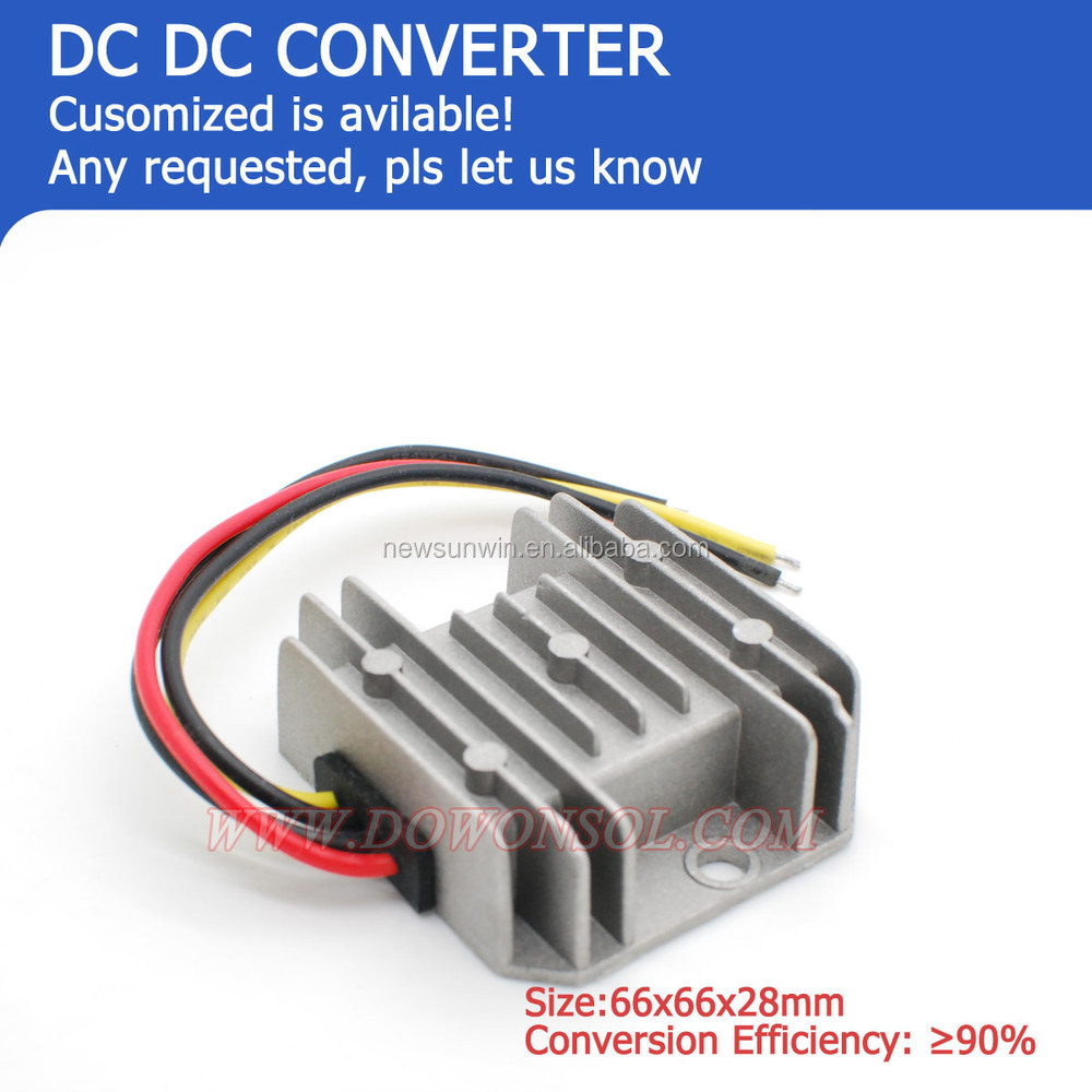 12vdc to 24vdc dc to dc converter 72W 3A Waterproof CE UL approved