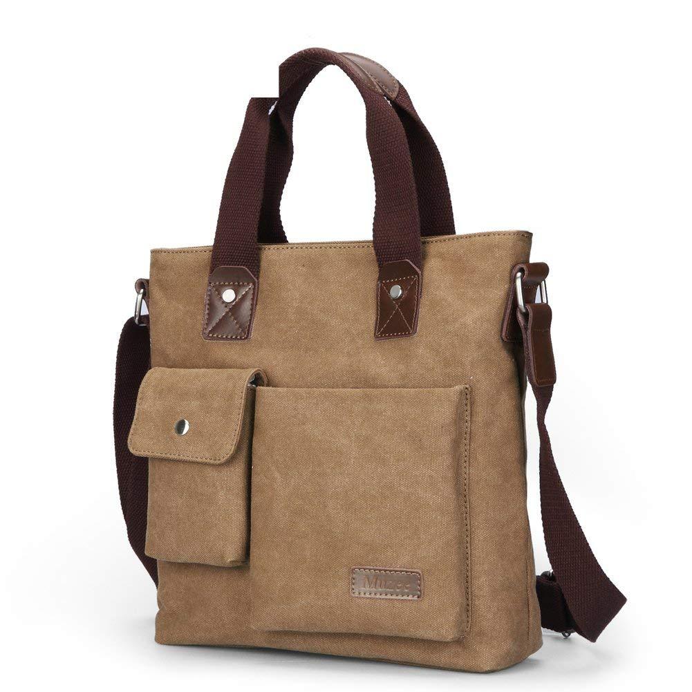 047a393f64 Get Quotations · Business man bag single shoulder bag Canvas casual  Messenger bag Mens bag handbag vertical Briefcase