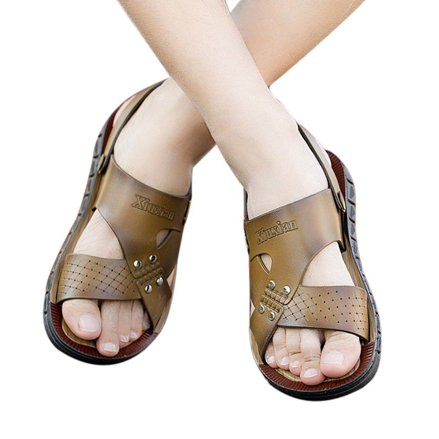 3c8cfc40e54 Get Quotations · Sikye Male Athletic Sandal