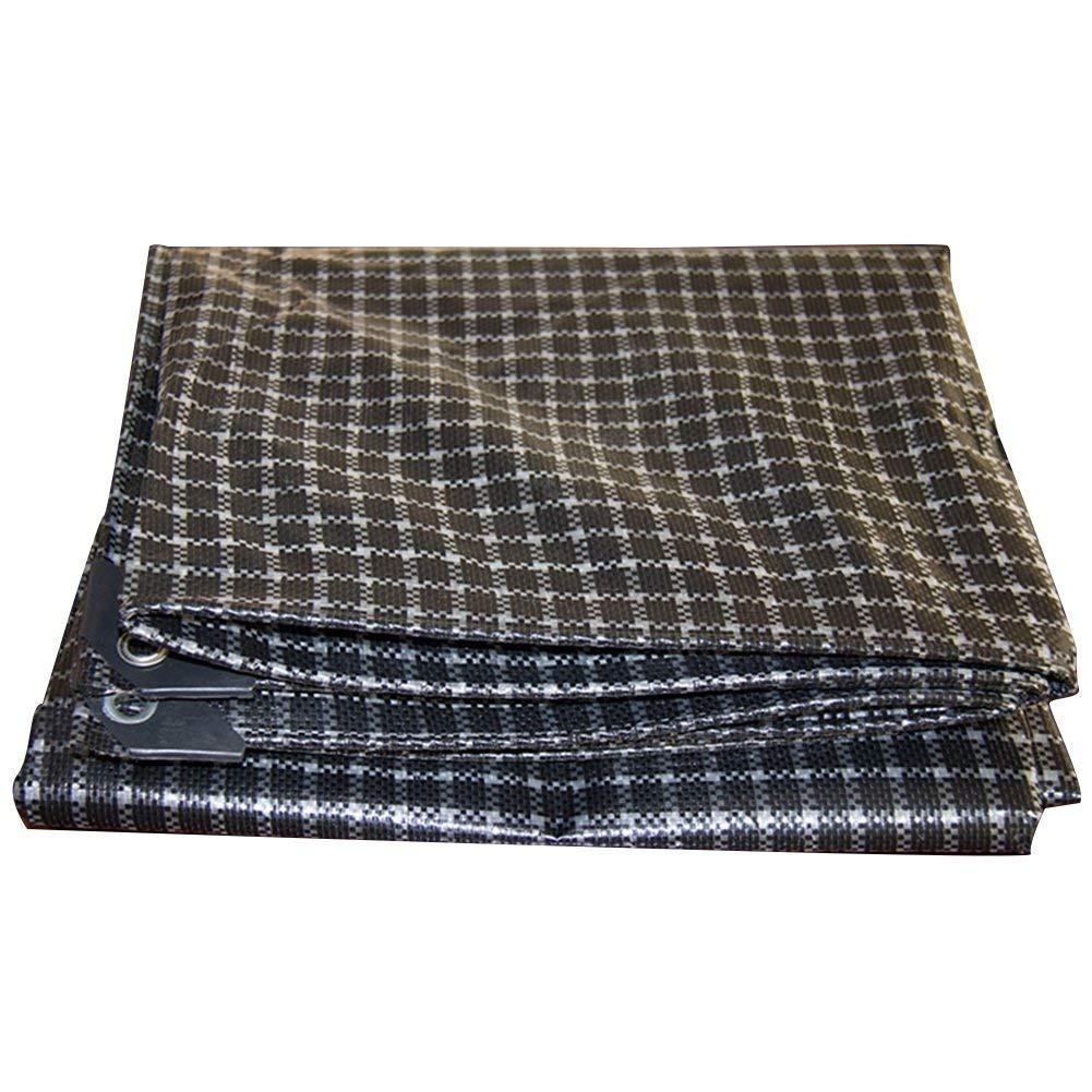 QIANGDA Lattice Tarpaulin Polyethylene Car Awning Cloth Wear-resistant Anti-corrosion Sun Shade Anti-wind,2 Colors, 10 Sizes Optional (Color : 2#, Size : 4 x 4m)