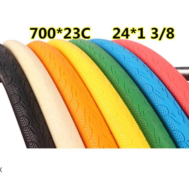 700c colored road bike tires solid rubber bicycle tire